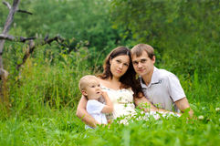 Family on the nature Royalty Free Stock Image