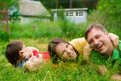 Family at nature Stock Image