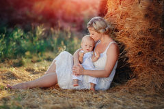 Family in nature Stock Images