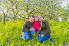 Family in nature Royalty Free Stock Image