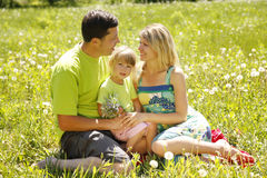 Family on the nature Stock Image