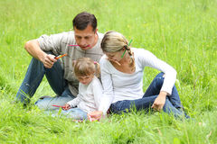 Family on the nature Royalty Free Stock Photo