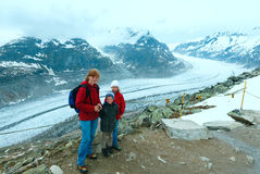 Great Aletsch Glacier (Bettmerhorn, Switzerland) Royalty Free Stock Image