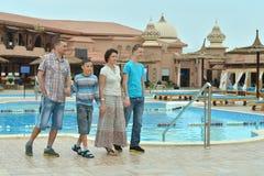 Free Family Near Swimming Pool Stock Photo - 52038680