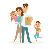 Family in new home Stock Photos