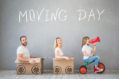 Family New Home Moving Day House Concept Royalty Free Stock Image