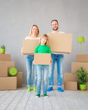 Family New Home Moving Day House Concept Royalty Free Stock Images