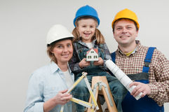 Family new house Stock Photography