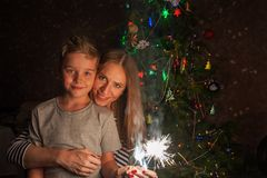 Family new year Royalty Free Stock Images
