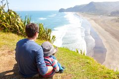 Family in new zealand Royalty Free Stock Photo