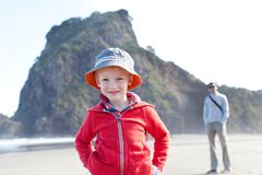 Family in new zealand Royalty Free Stock Images