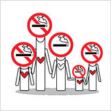 Family no smoking for hope you Stock Photography