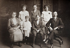 Family Of Seven Stock Images
