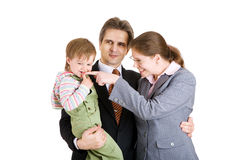 Family in office Royalty Free Stock Photo