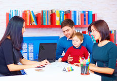 Family in office at the professional Royalty Free Stock Photography