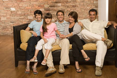 Family On A Sofa Stock Image