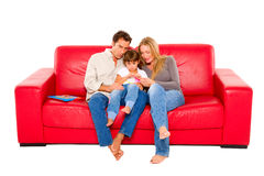 Family with one child Royalty Free Stock Image