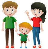 Family with one son Stock Photography
