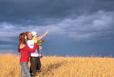 Family outdoor Stock Photography