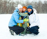 Family outdoor Royalty Free Stock Images