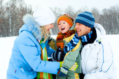 Family outdoor Royalty Free Stock Image