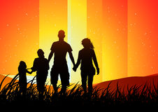 Family Outdoor Concept. Warm background Royalty Free Stock Images