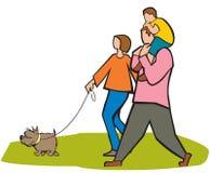 Family outdoor fun Stock Image