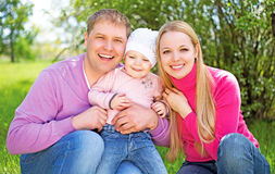Family outdoor Royalty Free Stock Photography