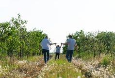 Family outdoor recreation. stock photo