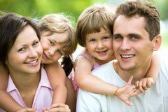Family outdoors royalty free stock photo