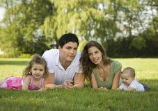 Family outdoors Royalty Free Stock Photos