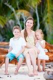 Family outdoors at summer Stock Photos