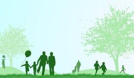 Family outdoors summer Stock Photos
