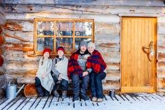 Family outdoors on winter Stock Photos
