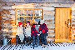 Family outdoors on winter Stock Photography