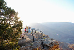Family Overlooking Grand Canyon Royalty Free Stock Photography