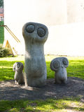 Family of owls sculpture in Planty Park in Krakow Poland Stock Photos