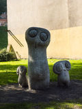 Family of owls sculpture in Planty Park in Krakow Poland Stock Images
