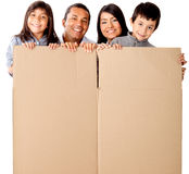 Family packing Royalty Free Stock Images