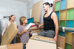 Family packing things Royalty Free Stock Images