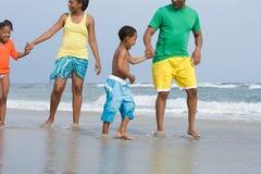 Family paddling royalty free stock image