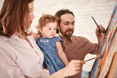 Family of painters Royalty Free Stock Image