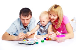 Family painting Royalty Free Stock Photo