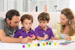 Family painting Royalty Free Stock Photos