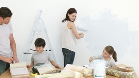 Family Painting Home Stock Video Image Of Decorating