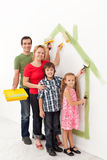 Family painting together Stock Photo
