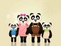 Family of panda Royalty Free Stock Photos