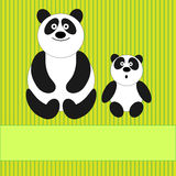 Family of pandas Royalty Free Stock Photos