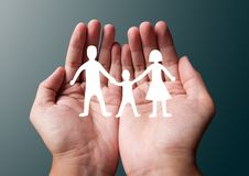 Family paper Royalty Free Stock Image