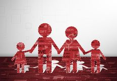 Family paper. Family cut out of paper with text. Eps 10 Royalty Free Stock Photos